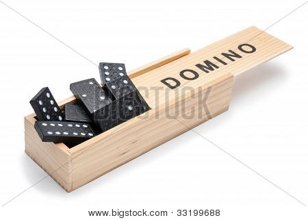 Dominoes, Randomly Placed In A Box.