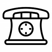 Phone Hot Line Depression Icon. Outline Phone Hot Line Depression Vector Icon For Web Design Isolate poster