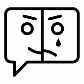 Mental Disease Chat Icon. Outline Mental Disease Chat Vector Icon For Web Design Isolated On White B poster