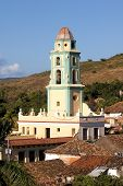 Belltower In The Old Town Trinidad, Cuba poster