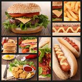 stock photo of hot dog  - collection of fast food image - JPG