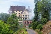 Castle Of Heiligenberg In Mist, Linzgau, Germany. This Renaissance Castle Is A Landmark Of Baden-wur poster