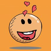 Smiling Face Icon. Face With A Smile. Vector Illustration Of A Smiling Face With Hearts. Hand Drawn  poster