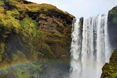 Skogafoss Waterfall, famous natural landmark in Iceland, Europe poster