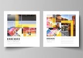 The Minimal Vector Illustration Of Editable Layout Of Two Square Format Covers Design Templates For  poster