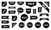 Sale And New Label Collection Set. Sale Tags. Discount Red Ribbons, Banners And Icons. Shopping Tags poster