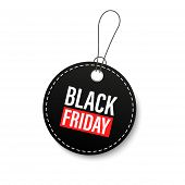 Black Friday Sales Tags And Labels, Template Shopping Labels. Blank, Discount And Price Tags On Pape poster