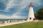 picture of marblehead  - Marblehead Lighthouse. Located on the shores of Ohio