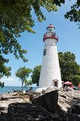 stock photo of marblehead  - Marblehead Lighthouse - JPG