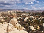 Fairy Chimneys Rocks At The Valley Near Urgup, Cappadocia, Turkey poster