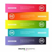 Presentation Business Infographic Template, Abstract Infographics Number Options Template With 5 Ste poster