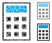 Calculator Composition Of Joggly Items In Various Sizes And Color Hues, Based On Calculator Icon. Ve poster