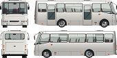 picture of motor coach  - Vector illustration passenger bus  - JPG