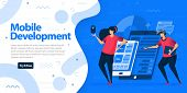 Mobile Development Apps Websites And Landing Page Template. Make Mobile Apps With More Responsive An poster