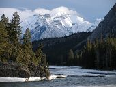 stock photo of rocky-mountains  - this is a picture of the canadian rockies - JPG