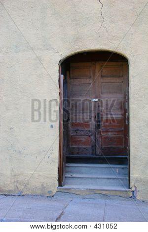 Large Brown Door