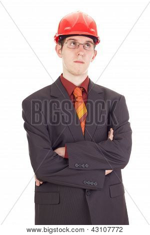 Young Businessman With Hard Hat