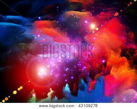 Arranjo de pintura de fractal