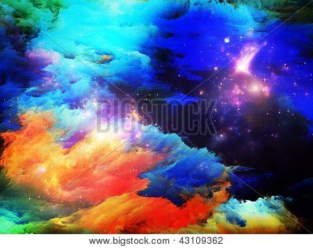 Partículas de tinta do fractal