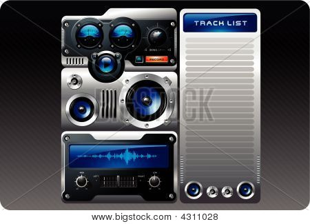 Blue Analog Mp3 Player
