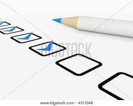 Cheklist With Pen
