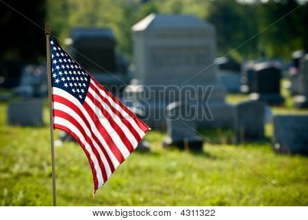 American Flag During Memorial Day