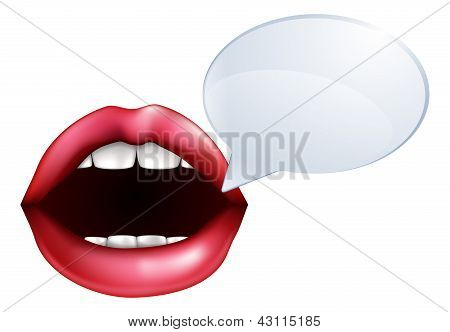 Mouth Or Lips Talking