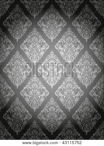 Damask Pattern Gray