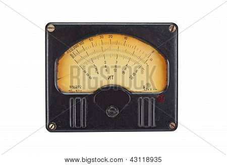 Vintage antique voltmeter