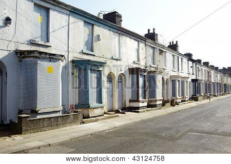 Boarded Up Terraced Houses
