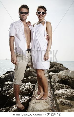 Beauty couple on holiday in Italy