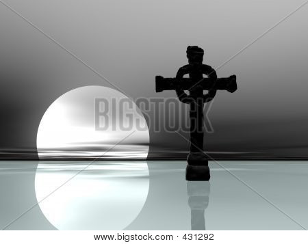Icy Cross Silhouette