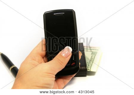 Woman Hand Holding Mobile