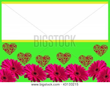 Gerbera flower love frame