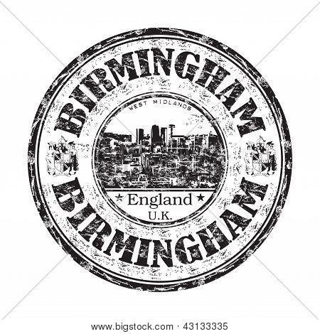 Birmingham grunge rubber stamp