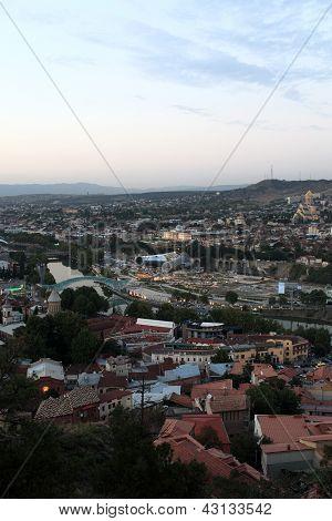 Skyline Of Tbilisi City