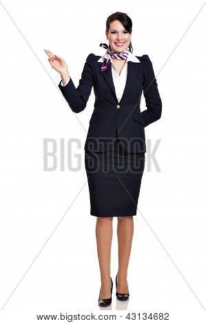 Fullbody Beautiful Stewardess