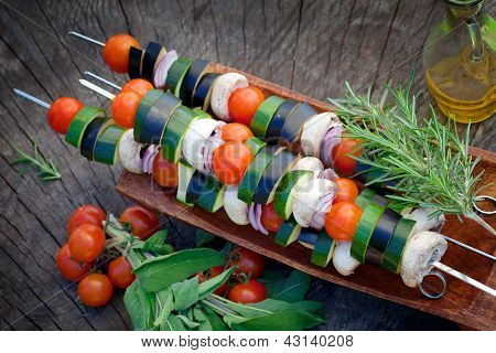 Gemüse Kebab