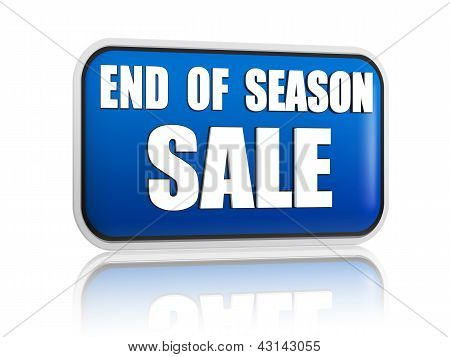 End Of Season Sale Blue Banner