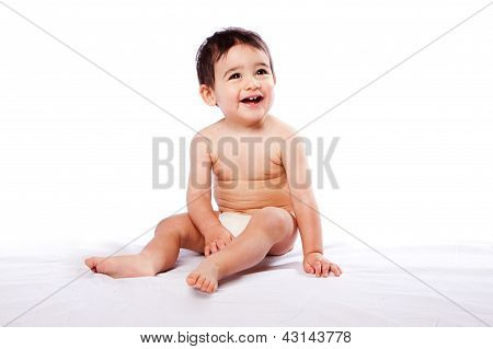 Happy Baby Toddler Sitting