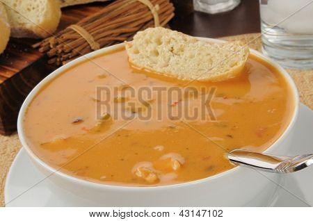 Chicken Gouda Cheese Bisque