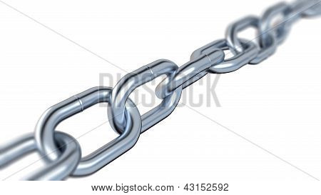 Blurred Metallic Chain
