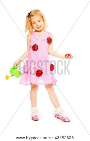 Spring Blond Little Girl