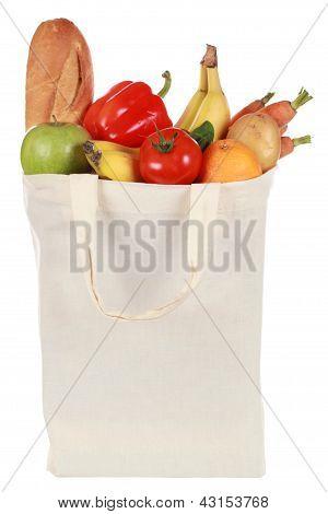 Lebensmittel in einer Tasche