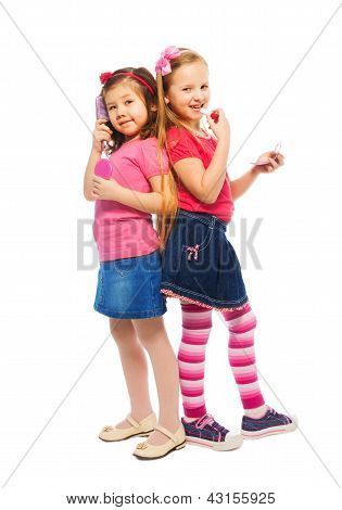 Two Girls Pretending To Be Big Women
