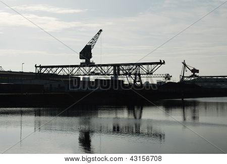 Industrial plant in Karlsruhe Rhine Port