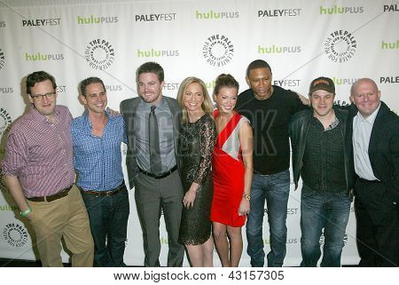 BEVERLY HILLS - MARCH 9: The cast and crew of