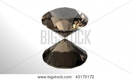 Jewelry gems roung shape on grey background
