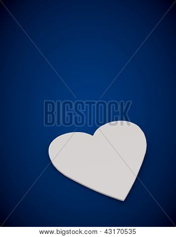 Elegant Heart symbol in a blue background