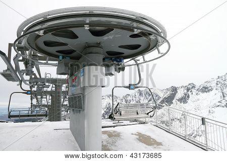Ski Lift On Kasprowy Top, Poland